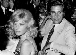 Gualtiero Jacopetti with Monica Vitti